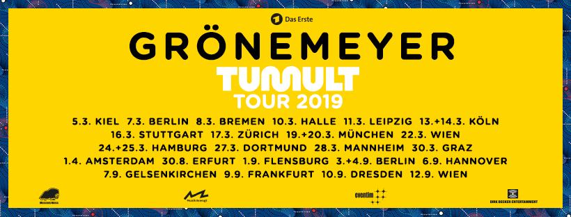 Tourdaten Herbert Grönemeyer - Tumult Live 2019
